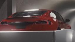 Yeraltı Tünelinde İlerleyecek Olan Otomobil!